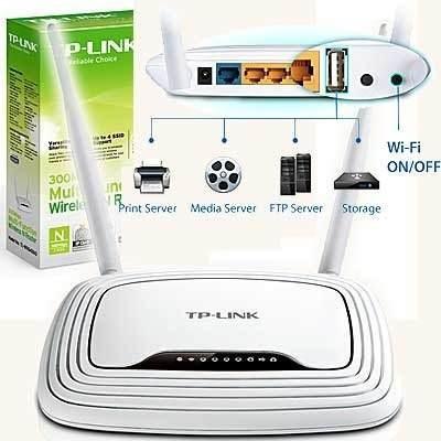 router 4 puertos tp-link tl-wr842nd 300mbps