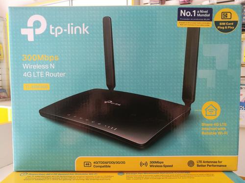 router 4g lte inalámbrico 300mbps tp-link tl-mr6400