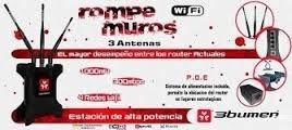 router alta potencia 3bumen rompemuros300mb.1000mw 3antenas