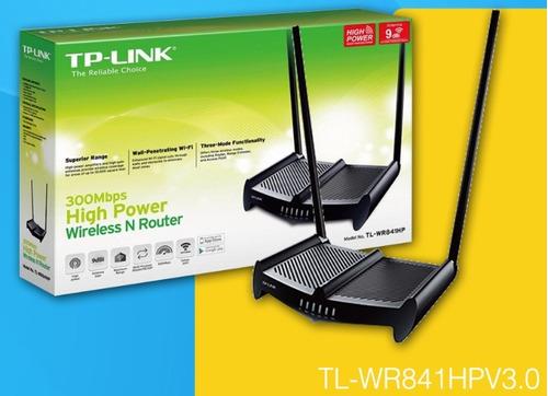 router ap tplink tl wr841hp 300 mbps 1 vatio 2 antenas 9 dbi