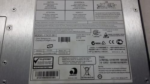 router cisco 2800 series modelo 2811