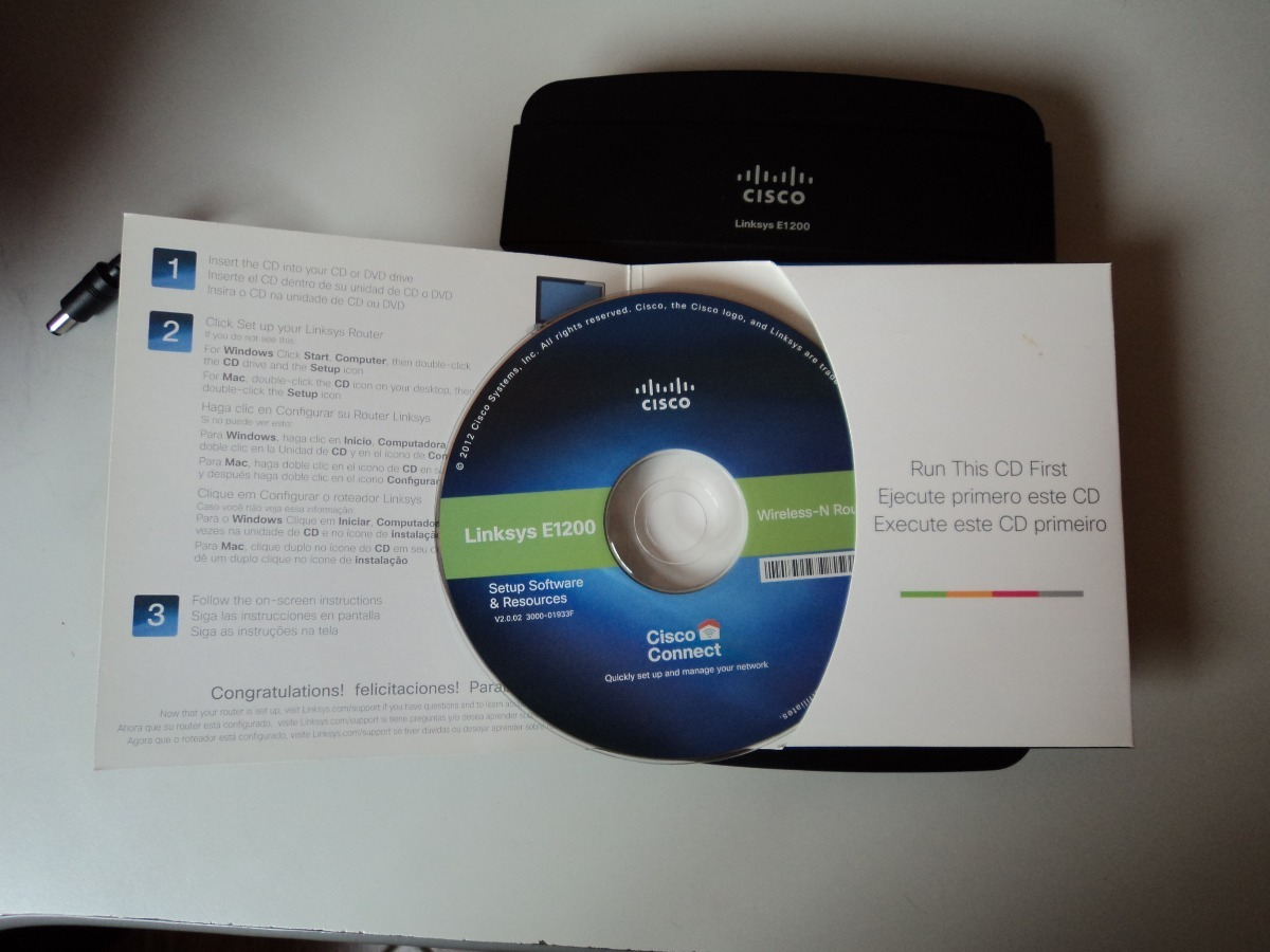 Router Cisco Linksys E1200 300 Mbps 2 4 Ghz - Bs  12 000,00