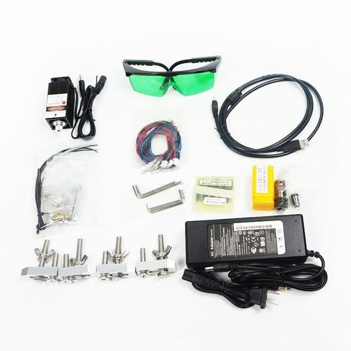 router cnc 3018 para cortar y grabar + laser 2500mw