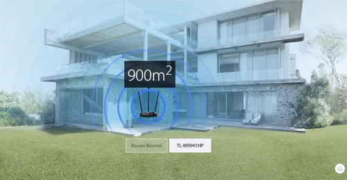 router de alta potencia hasta 450mbps tl-wr941hp rompe muros
