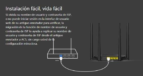 router dual band para streaming ac1200 tenda ac5