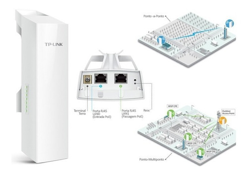 router externo tp link cpe 510 ant 13 dbi poe 15 km mimo