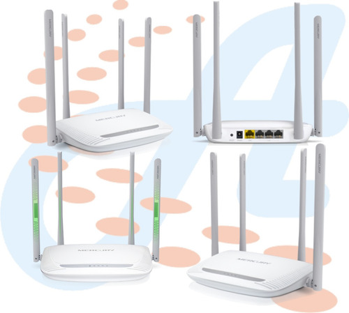 router inalámbrica 300mbps 4 anterna torbo mercury mw 325r