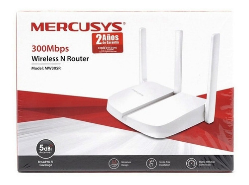 router inalámbrico 3 antenas 300 mbps mercusys mw305r 40041