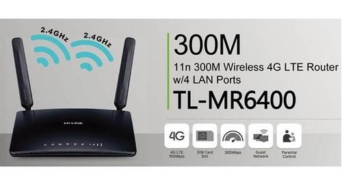 router inalambrico 4g tl-mr6400 tp-link  bitel claro