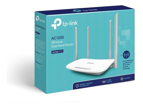 router inalámbrico ac1200 archer c50 doble banda tp link gs