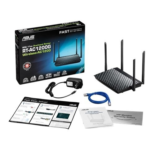 router inalámbrico asus ac1200 rt-ac1200g