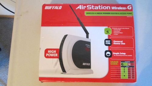 router inalambrico buffalo airstation whr-hp-g54 con dd-wrt