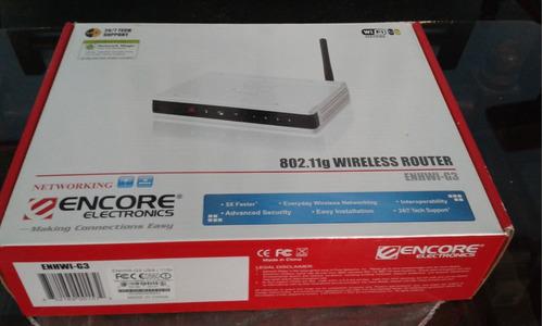 router inalambrico encore electronic 802.11g  enhwi-g3 4port