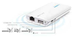 router inalámbrico n portátil 3g / 4g alimentado por batería