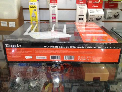 router inalámbrico tenda fh456  n300 repetidor 4 antenas