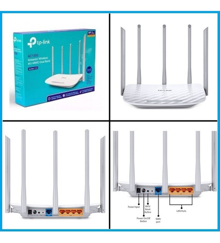 router inalambrico tp-link ac1350 archer c60 dualband