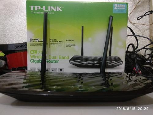router inalambrico tp-link archer c2 5ghz ac 750 433mbps