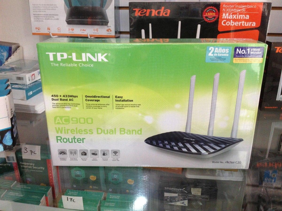 Router phát wifi TP-Link AC900 Archer C20 băng tầng kép