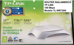 Router Inalambrico Tp-link Modelo Tl-wr720n 150mbps