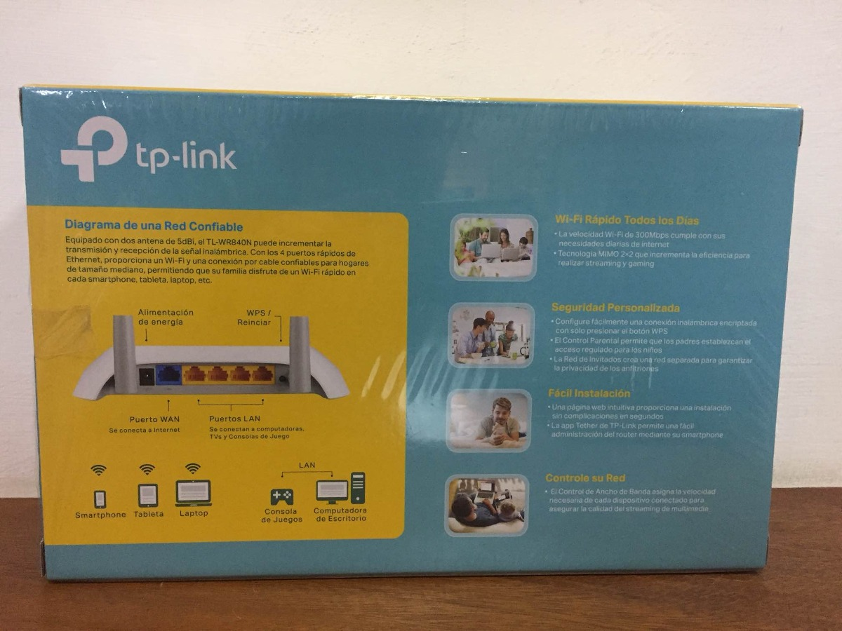 Router Inalmbrico Tp Link Tl Wr840n 300mbps 2 Antenas Nuevo Bs Wirless 840n Cargando Zoom