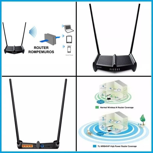 router inalambrico tp-link tl-wr841hp 300mb rompemuro ap