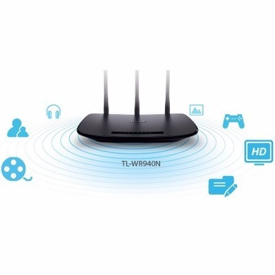 router inalambrico tp-link tl-wr940n 450 mbps wifi 3 antenas