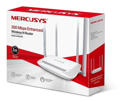 router inalámbrico wifi mercusys 300 mbps - 4 antenas 5 dbi