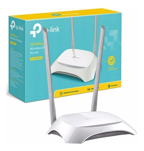 router inalámbrico wifi n 300mbps, tp-link tl-wr840n 2 ant.