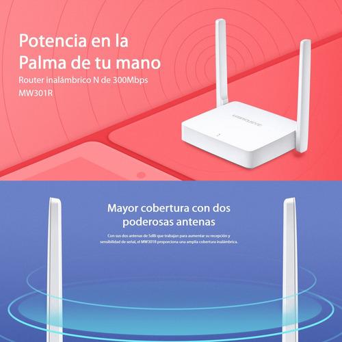 router inalámbrico wifi n de 300mbps, mercusys mw301r
