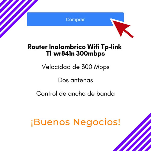 router inalambrico wifi tp-link tl-wr841n  300mbps - blanco