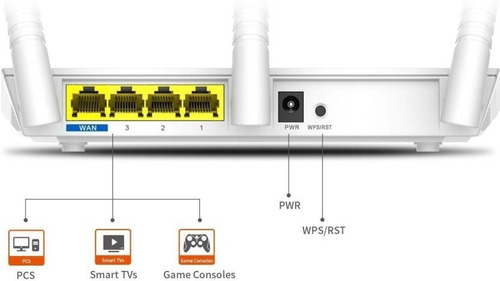 router inalambrico wifi tres antenas wireless wi-fi tenda f3