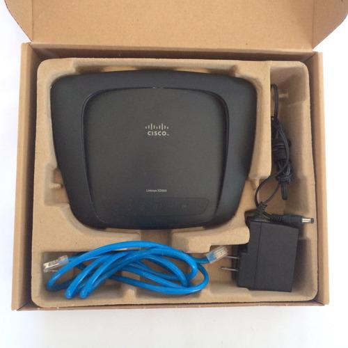 router linksys cisco x2000 con modem adsl2+ incorporado