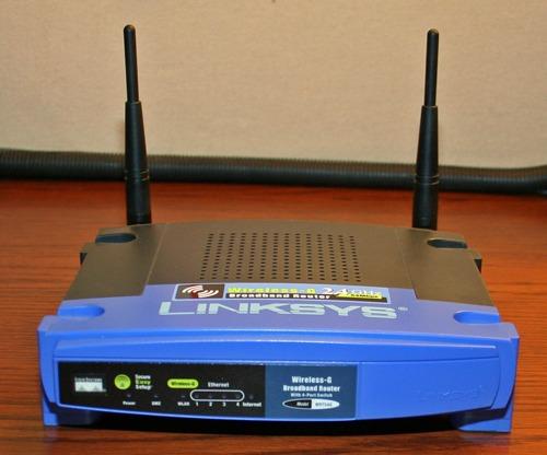 router linksys wrt54g como nuevo - con caja y cables