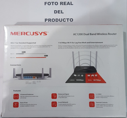 router mercusys ac1200 rompemuro dual band hecho tplink