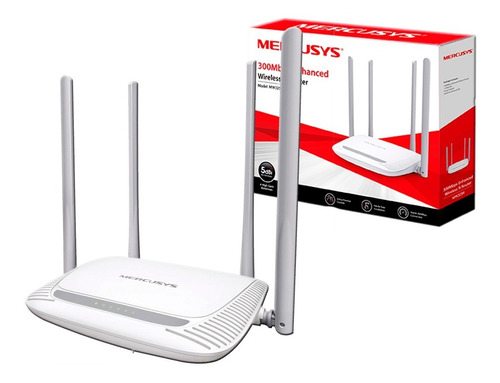 router mercusys mw325r by tp link  4x5dbi 300mps easy setup