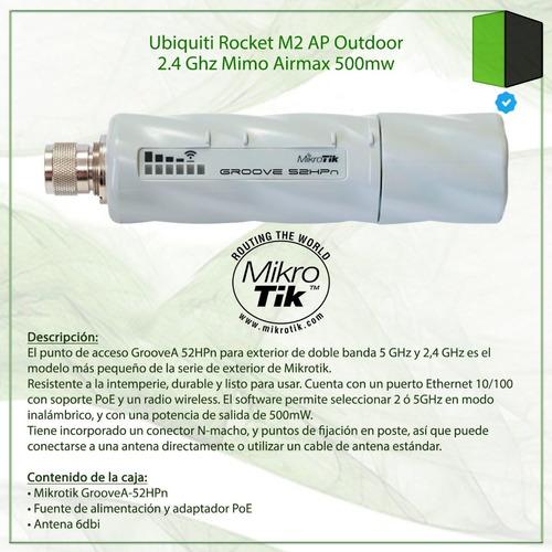 router mikrotik groovea 52hpn ap 2.4/5.8ghz antena 6dbi l4