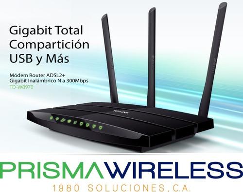router modem wifi inalambrico tp-link gigabit + 300mbps