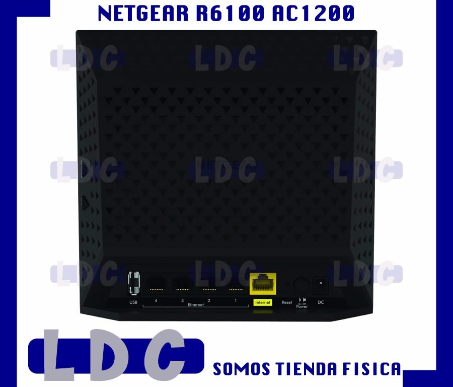 Router Netgear R6100 Ac1200 433mbps + 867mbps Altorendimient