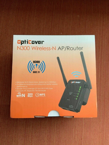 router opticover n300 extensor wifi repetidor 300mbps 20v