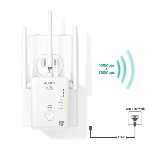 router, repetidor ac750 wifi 5 ghz ,3 antenas, aukey wifi ac