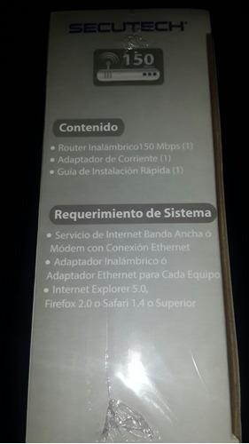 router secutech 150 mbps 1 antena original garantia