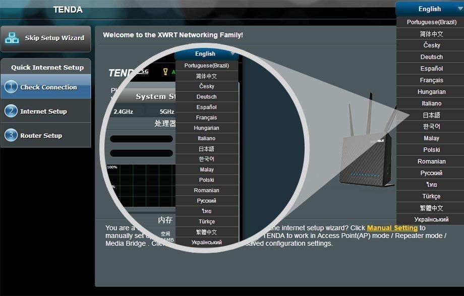 Router Tenda Ac18 Con Firmware Asus Merlin Multilenguage