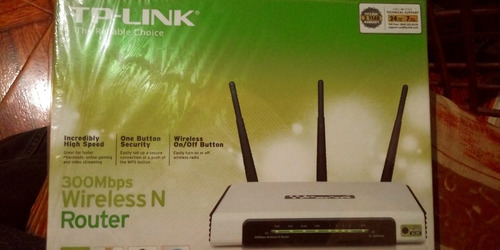 router tp link 300mbps tl w940nd  wifi 3 antenas nuevo