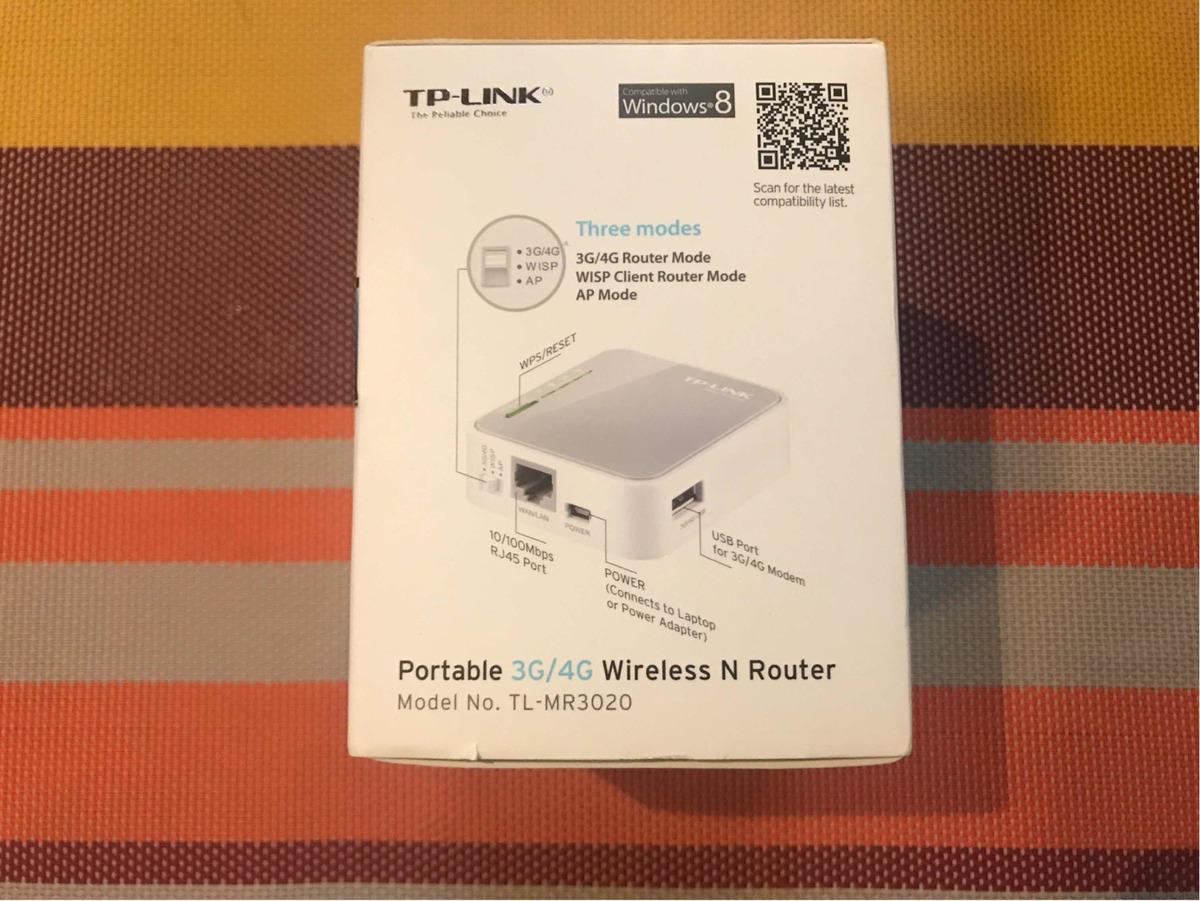 Router Tp Link 3g/4g Wi Fi Portátil Tl Mr 3020 - Bs  30 000,00