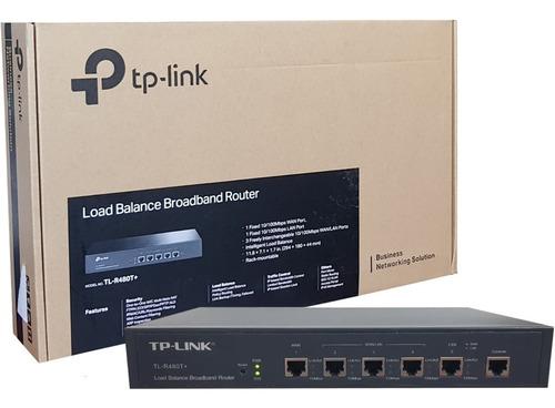 router tp-link balanceador de carga tl-r480t+ ptos wan lan