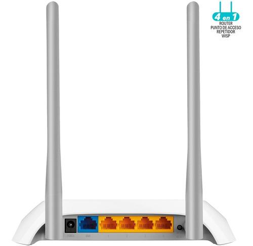 router tp-link inalámbrico n300 tl-wr840n v5 antena externa