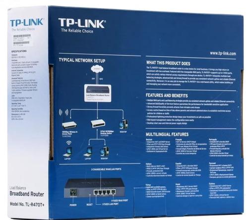 router tp-link tl-r470t+ banda ancha balance de carga