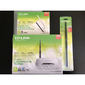 Router Tp-link Tl-wr741nd + Antena 8db + Adaptador Usb Wifi