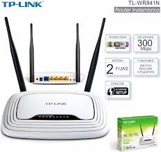 router tp link tl-wr841n 300 mbps wifi 2 antenas equiprog