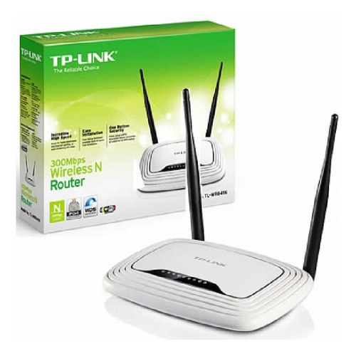 router tp-link tl-wr841n wireless 2.4ghz n300 2 antenas 5dbi
